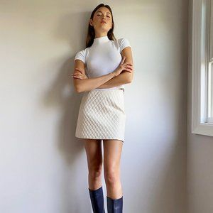 Aritzia Sunday Best | Flynn Quilted Mini Skirt